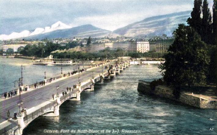 1930s : Geneva . Image colourized by Anthony Zois.