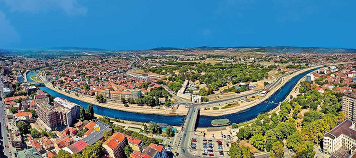 Panorama of Nis, Serbia