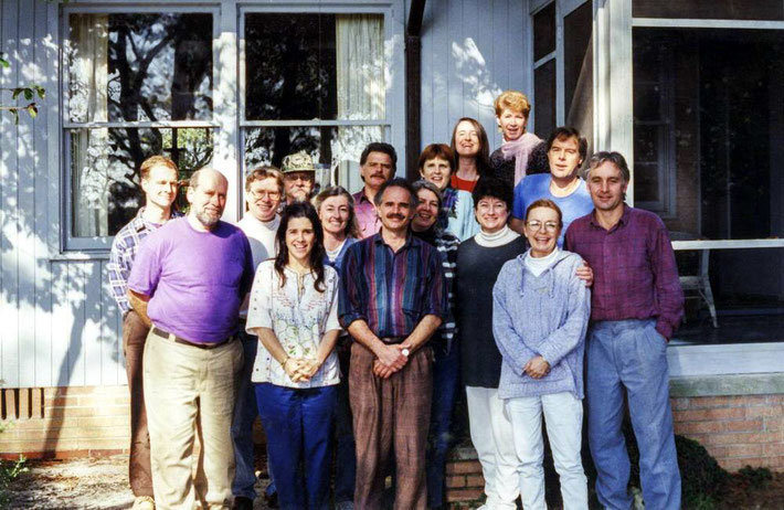 (L-R) Lee McBride,Mike Cauthen,Charles Haynes,Jane Viscardi Brown,Dean Nordquist,Barbara Plews,Marshall Hay,Jeff Woverton,Hettie Johnson,Deborah Smith,Jenny Zenner,Carole Kelly,Jennifer Tinsman?,Mina Brustman,Malcolm Clay and Dennis McCabe