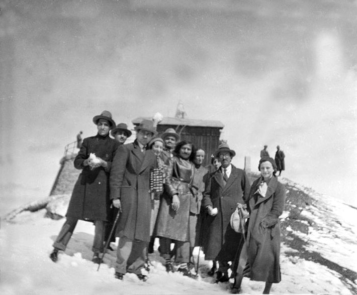 Mt.Generoso, Switzerland - Kim on far right - Courtesy of MSI Collection