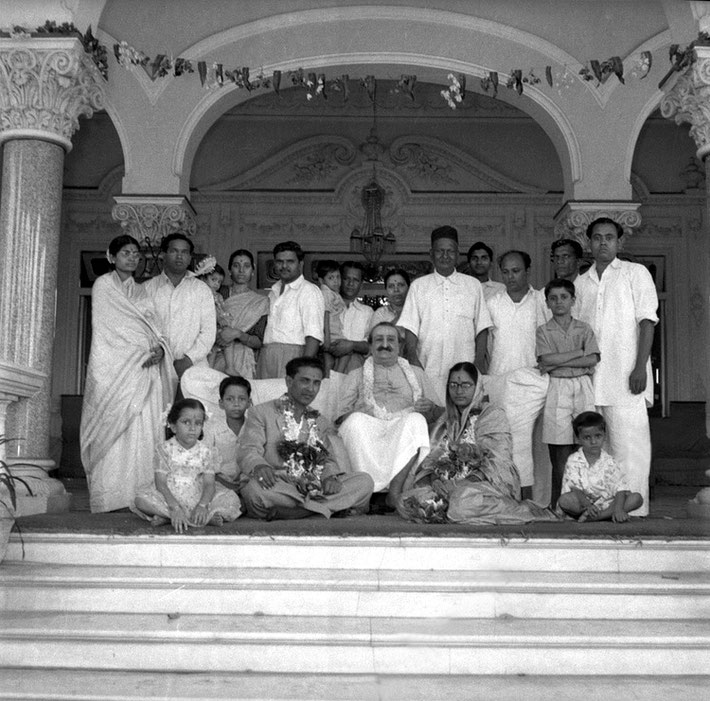 The wedding part of Madhusudan and Subhuddra with Meher Baba at Guruprasad, Poona, India