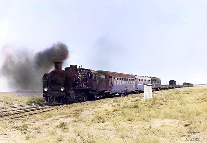 1930s : Taurus Express train that travelled from Baghdad to Istanbul in Turkey. Image colourized by Anthony Zois.
