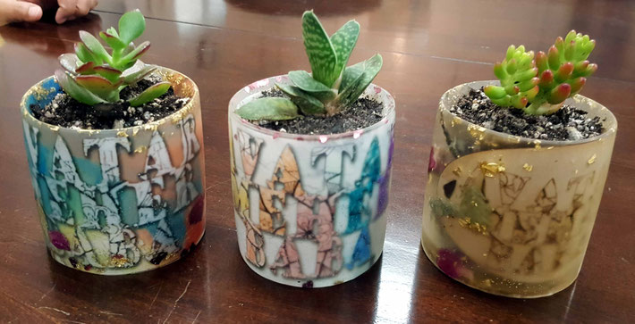 Glass pot creations made by Angela Lee Chen. Contact : angelaleechen@gmail.com