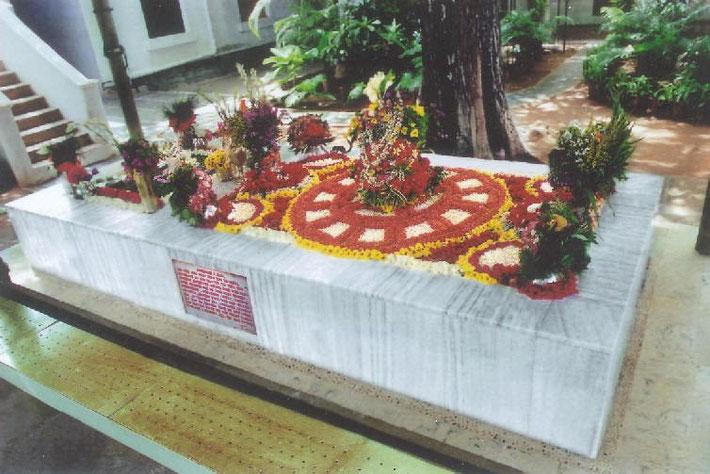 Sri Aurobindo's grave