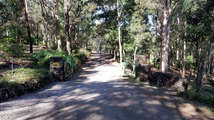 Entrance to Avatar's Abode property from Meher Road, Mt.Kiel, Qld. Photo by Anthony Zois