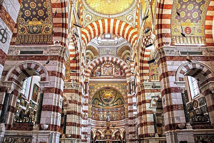 Interior of Notre-Dame de la Garde