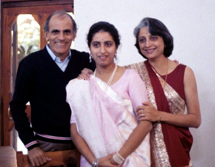 Hoshang & Havovi Dadachanji with their daughter Meherrukh