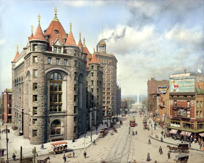 Erie County Savings Bank, Niagara Street, Buffalo, N.Y., ca.1908