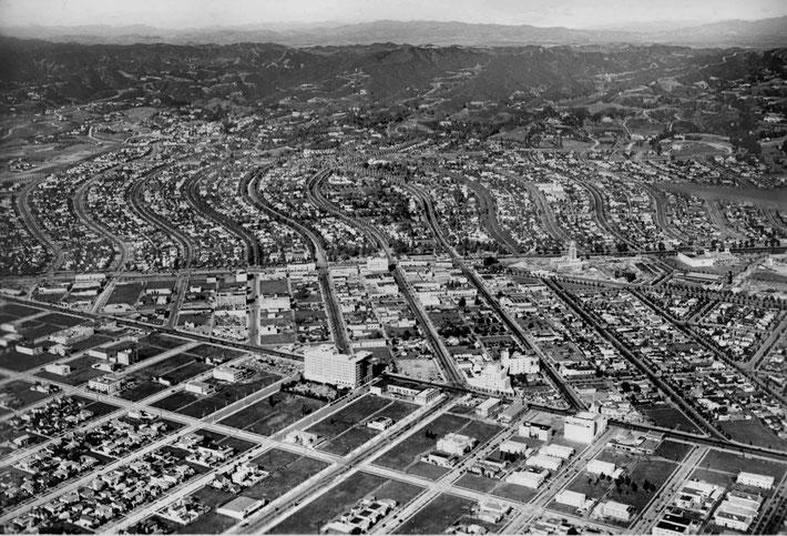 1930S AERIAL OF BEVERLEY HILLS