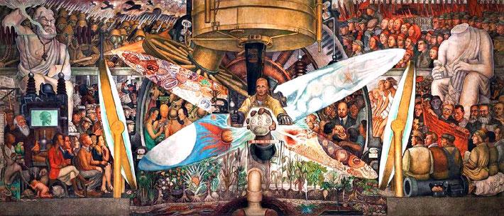 "Diego Rivera : ""Man at the Crossroads""  at the Rockafella Center, NYC."