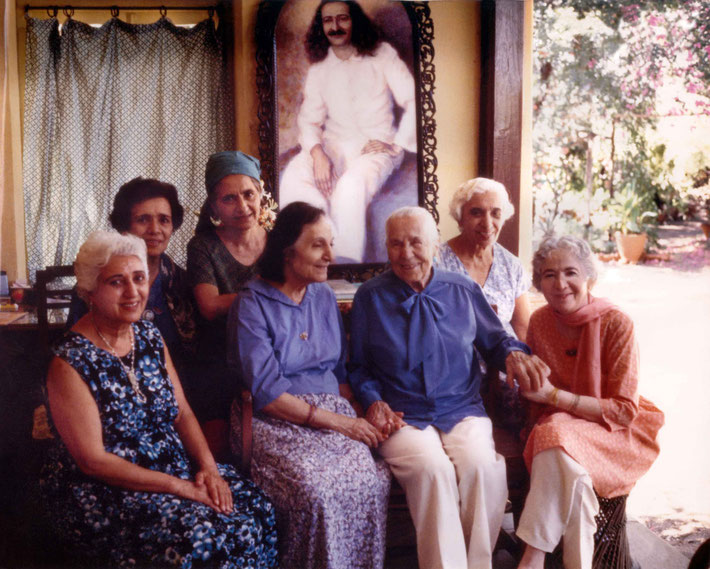 Kitty with the Meher Baba's Women Mandali at Meherazad, India