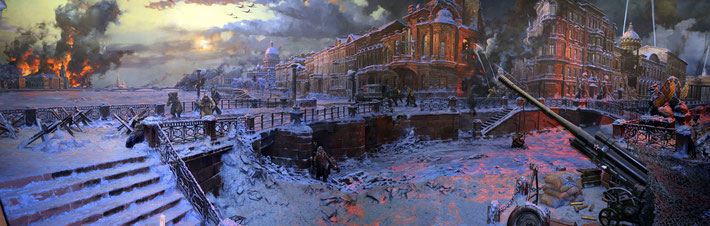 Painting of the Siege of Leningrad 1941-1944