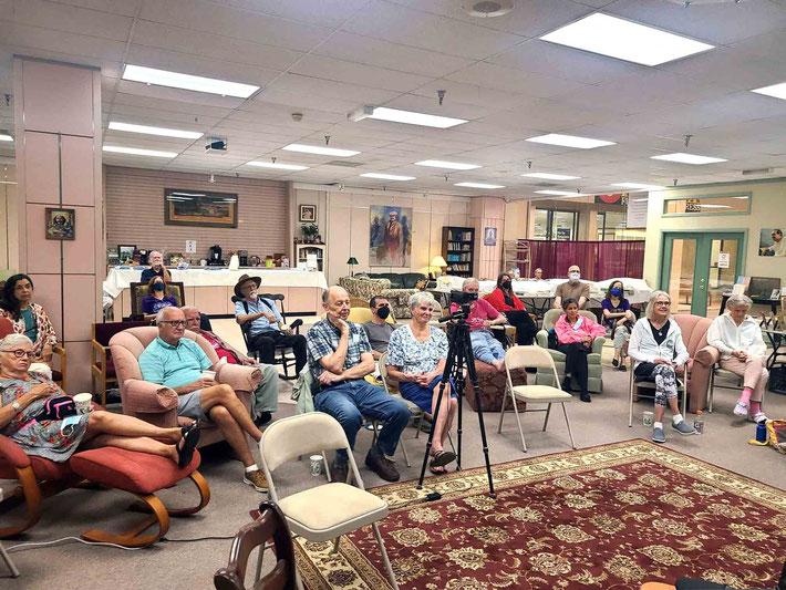 OCTOBER 2021 : Visitors listening to a guest speaker