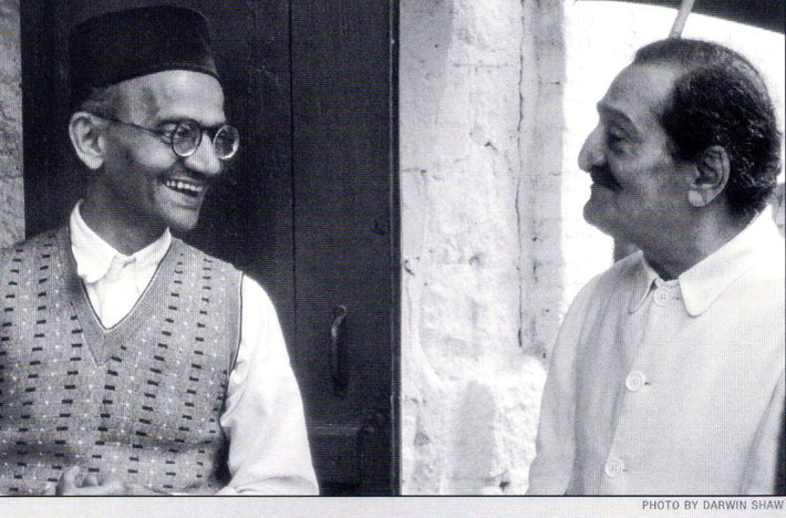 Meher Baba with Meheru's father Kaikobad Dastur.
