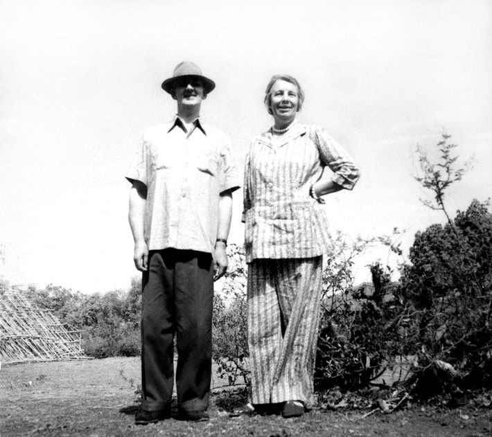 Irene with Colonel Goldney in India