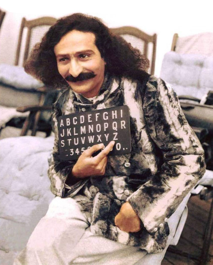 Meher Baba arrived in New York on the S.S.Bremen, 1932. Colourized by Cherie Plumlee and courtesy of the Glow International magazine - front cover Fall 2018
