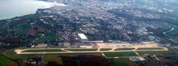 Present-day Geneva Airport, Switzerland