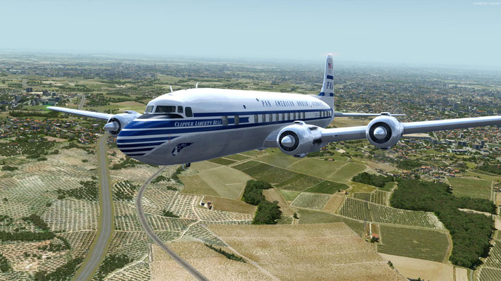 Pan-Am DC-6B Rainbow Service New York to London, U.K.