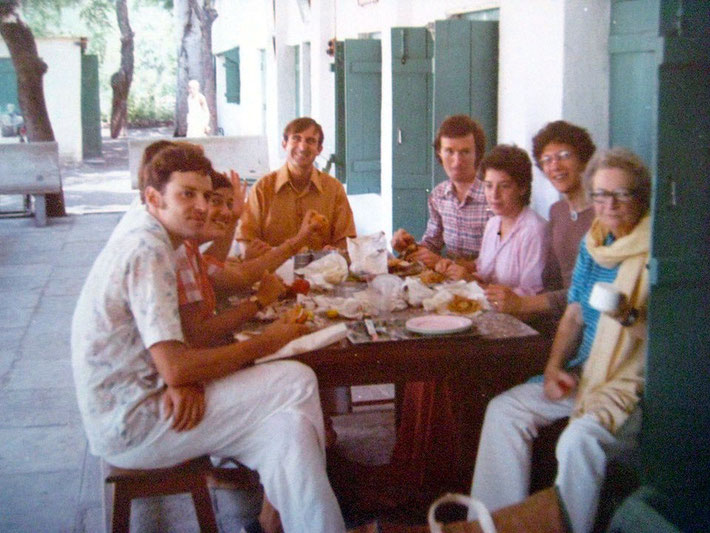 Ted Judson, Heather Nadel, Jacko Caraco, George Gevini, Laurel Magrini and Ena Lemmon 1975