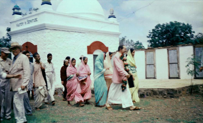 Upper Meherabad,India - 1954. Charles wearing white hat