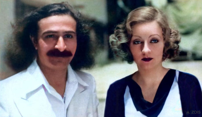 17. 31st May, 1932 : Paramount Studios, Hollywood, CA. Meher Baba with Tallulah Bankhead ( cropped image by Anthony Zois )