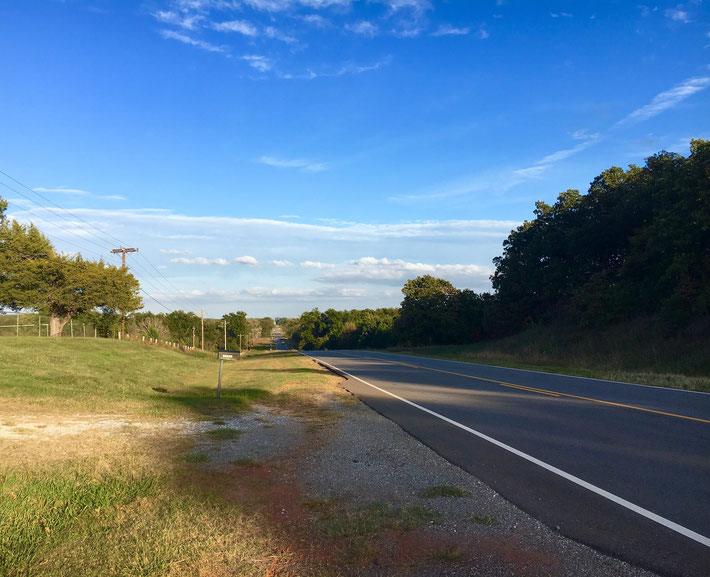 Site of Meher Baba's automobile accident, near Prague, Oklahoma