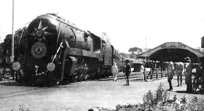 Punjab Mail train at Bombay railway terminal