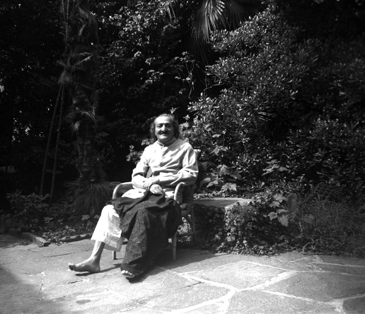 August 1952 : Meher Baba recuperating at the Merten's home in Locarno, Switzerland.