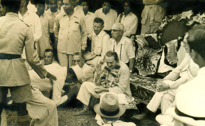 India - Sept.1954 ; Frank is seated to the far left of Baba