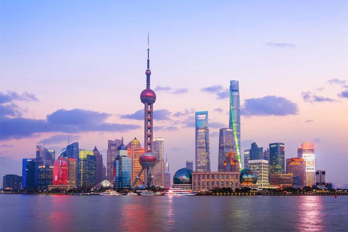 Modern-day Shanghai