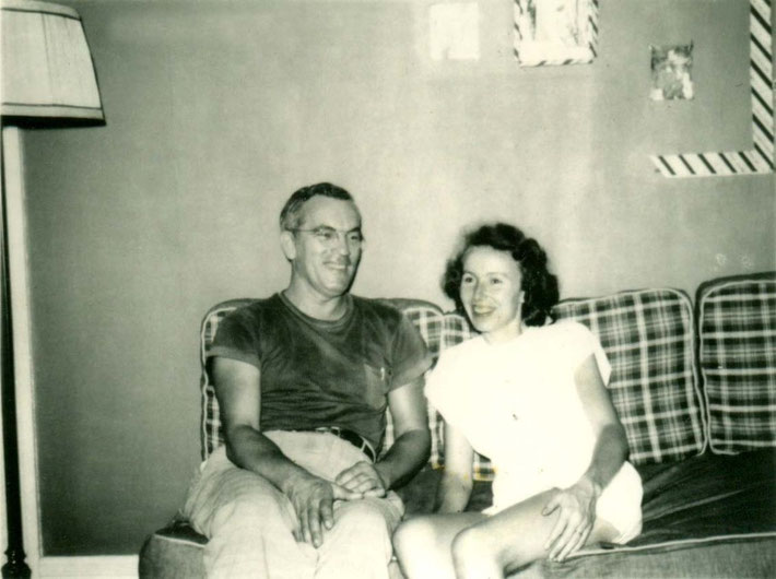 Frank & his wife Irene in the early 50's