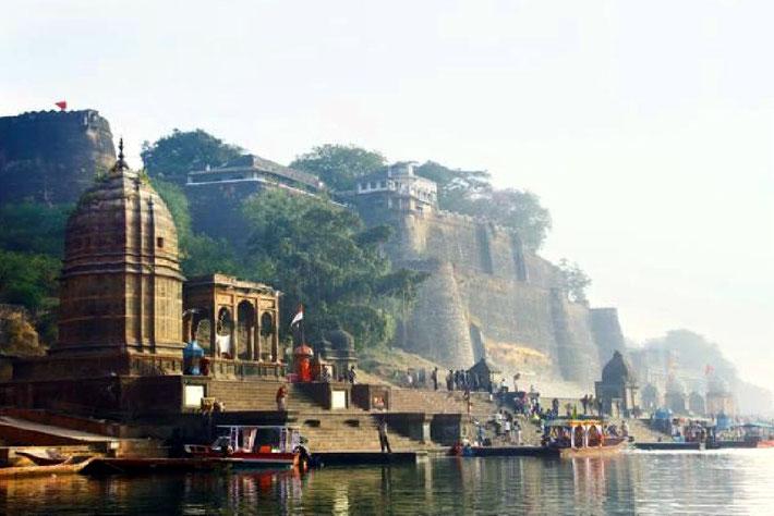 Bathing Ghats at Mandla on the Narmada River