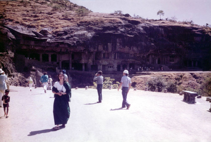 1975 ; Sher DiMaggio Zois near the Buddhist  caves