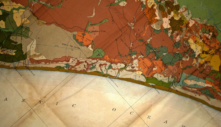 Detail soil map of the 1900s for the Myrtle Beach area. ( cropped version ) - Courtesy of Dee & Dixon  Withers-Julian