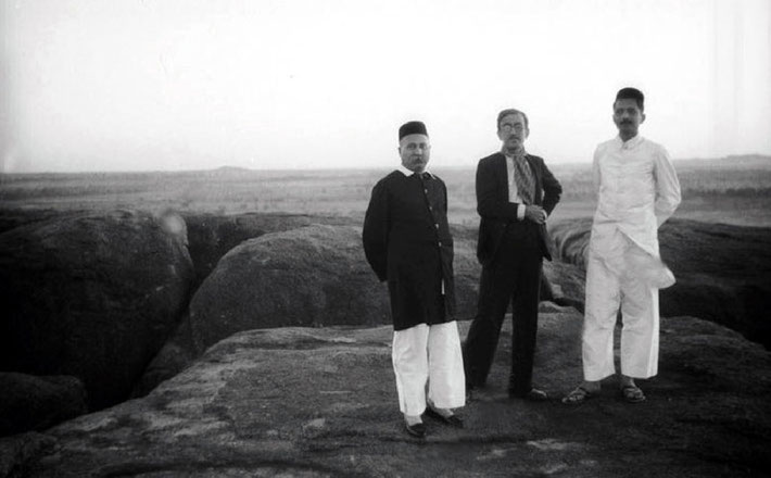 ( L-R ) Gustadji, Chanji and Pleader taking in the high views.