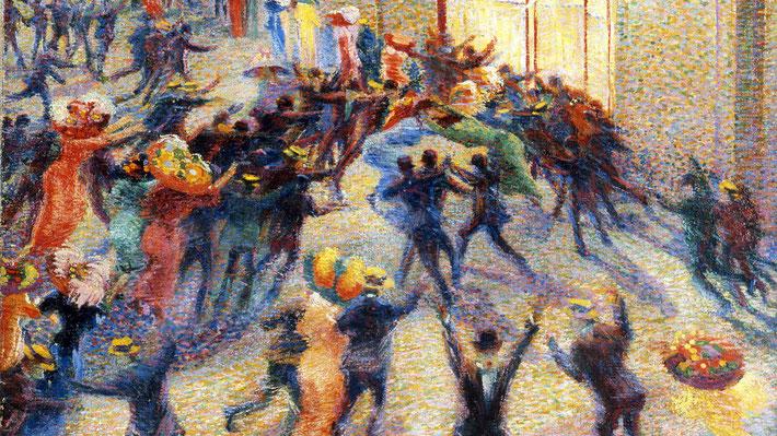 """U. Boccioni, """"Rissa in galleria"""" (1910)"""