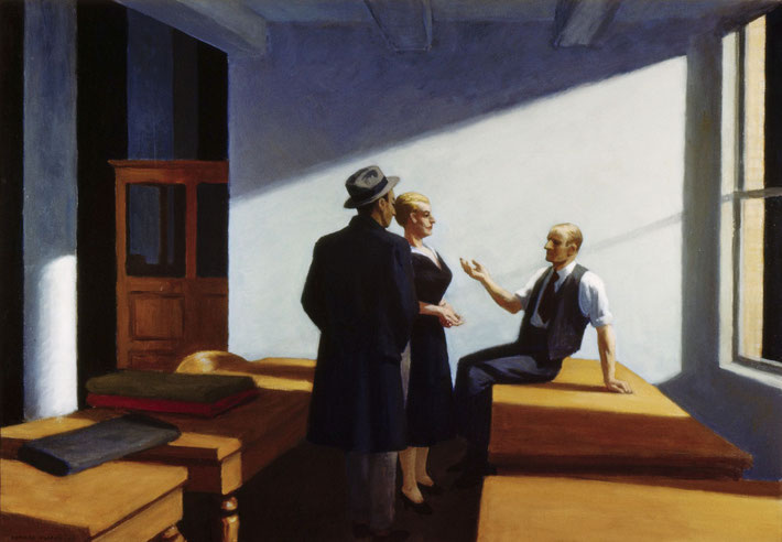"Edward Hopper, ""Conference At Night"" (1949)"