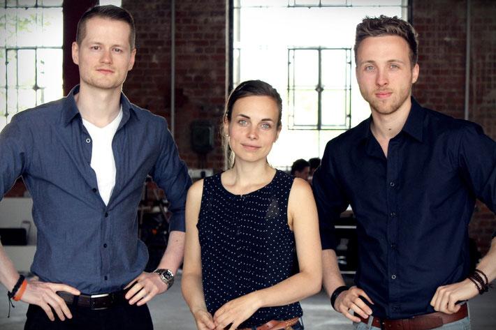 Anne Schwerin mit Stephan Risch und Aubry Laschek