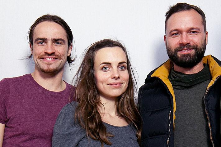 Fotograf Normen Gadiel,Texterin Anne Schwerin und Designer Martin Dahms
