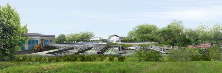 Station d'épuration à Sclessin / Bureau d'Architecture BAM pour l'A.I.D.E.