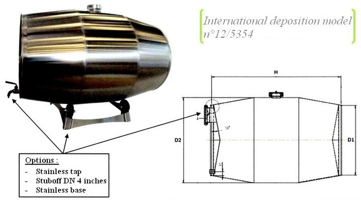 Stainless steel wine barrel plan GD Industries
