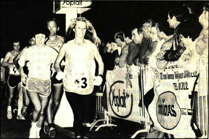 Christine Barrett (13) during the 1984 La Rochelle 6 Day Race