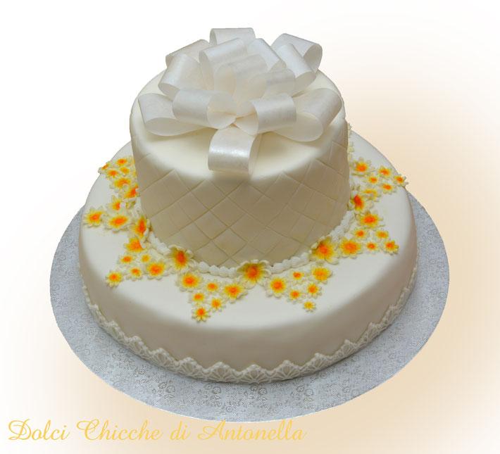 torta matrimonio-torta margherite-wedding cake-torte decorate-la spezia-liguria-dolci-eventi-cerimonie