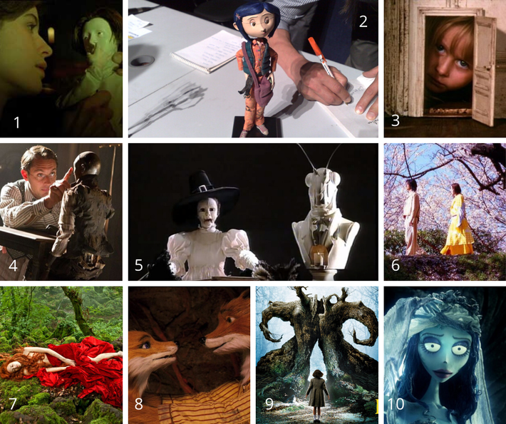 The numbers of the images correspond to the numbering of the list of movies for dollmakers