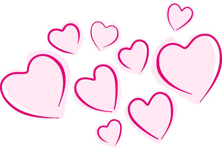 Pinkfarbene Herzen