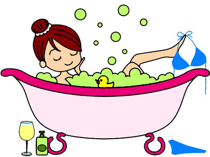 Badewanne mit Olivenschaum