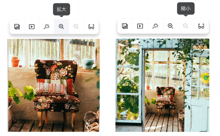 ジンドゥーAIビルダー:画像サイズの拡大・縮小