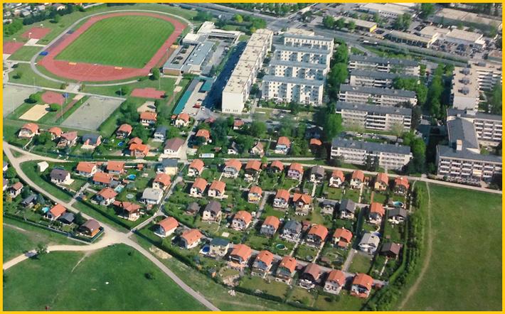 Luftaufnahme über dem KGV Ettenreich, Anningerweg 5, 1100 Wien