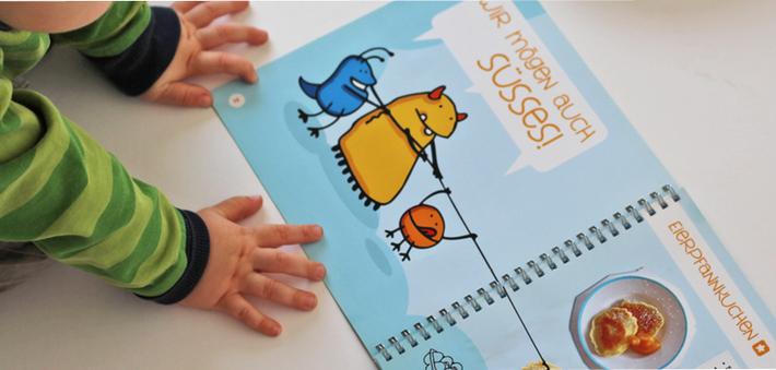 Kochen mit Kinder geht jetzt einfacher: 34 Rezepte mit Icons der Dinge die benötigt werden, lassen auch Kleine mithelfen. Kochbuch für Kinder aus dem Kindergarten Todendorf, bestellen unter www.die-kleine-designerei.com