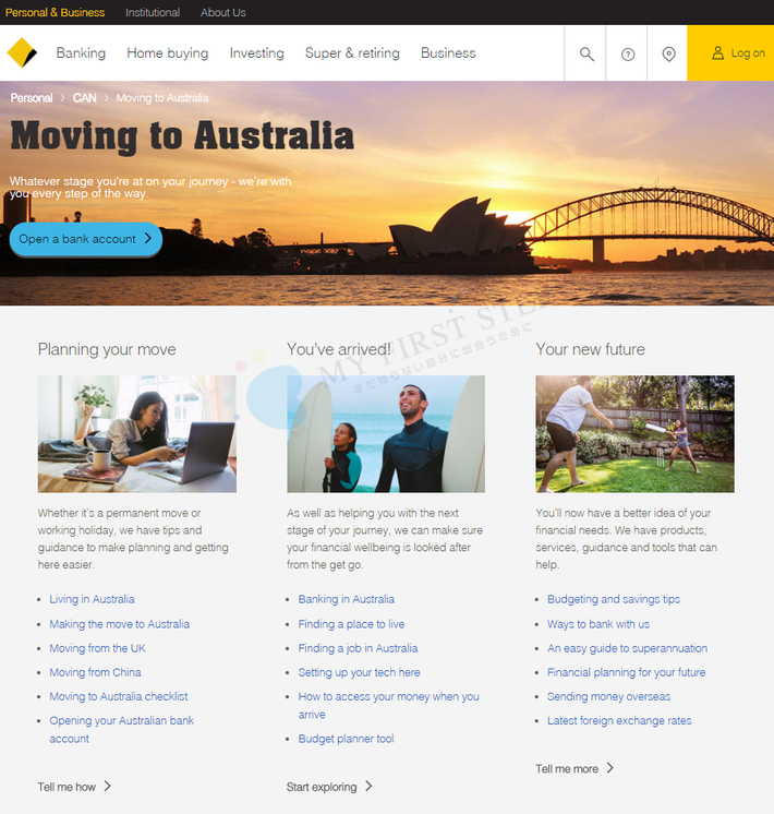CBA Moving to Australia - トップページ
